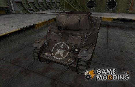 Исторический камуфляж M8A1 for World of Tanks