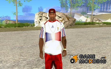 Футболка зборной Франции для GTA San Andreas