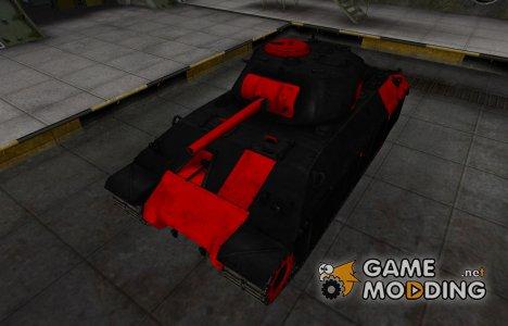 Черно-красные зоны пробития T14 for World of Tanks
