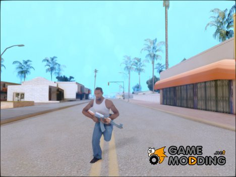 Sprinting With Two Handed Weapons for GTA San Andreas