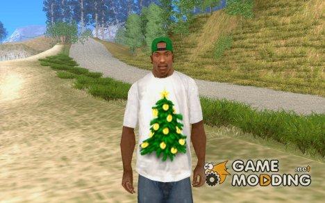 Новогодняя футболка для GTA San Andreas