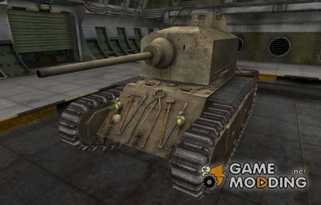 Пустынный французкий скин для ARL 44 для World of Tanks