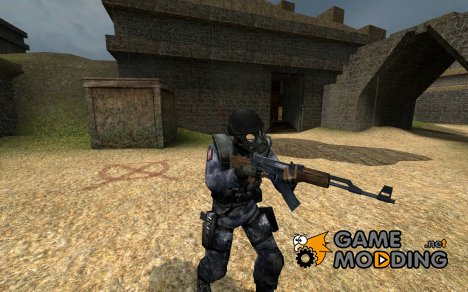 Dark Blue Camo SAS для Counter-Strike Source