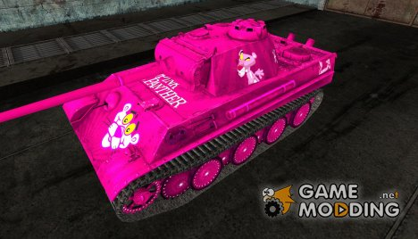 "Шкурка для PzKpfw V Panther ""The Pink Panther"" for World of Tanks"