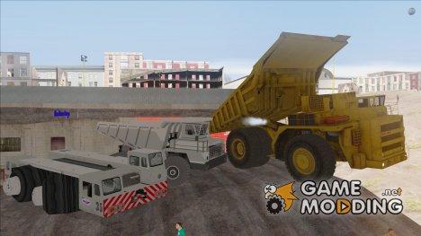 Пак машин БелАЗ для GTA San Andreas