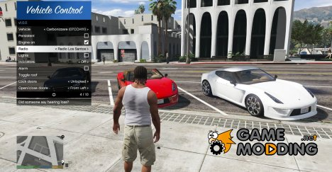 Remote Vehicle Control v1.1.0 for GTA 5
