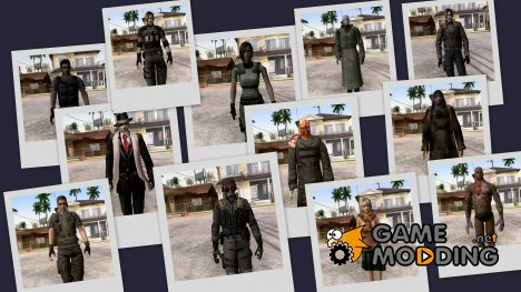 Resident Evil - Skins for GTA San Andreas