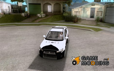 Mitsubishi Lancer EVO X Japan Police для GTA San Andreas