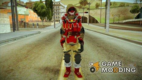 Новогодний скин из WARFACE for GTA San Andreas