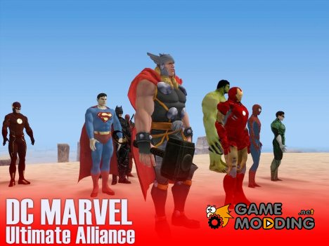 DC MARVEL Ultimate Alliance by crow для GTA San Andreas