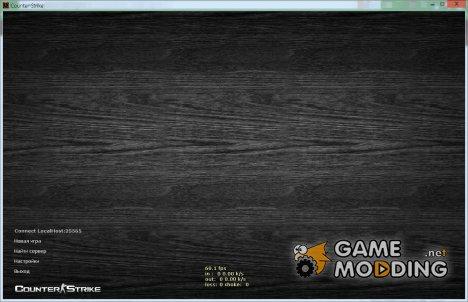 "Фон меню ""Черное дерево"". for Counter-Strike 1.6"