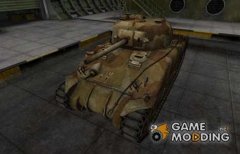 Шкурка для американского танка M4 Sherman для World of Tanks