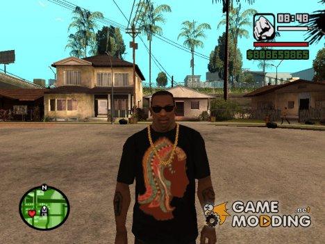 """Футболка с знаком зодиака """"Дева"""" для GTA San Andreas"""
