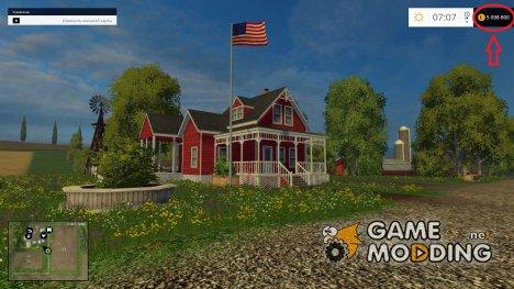 Чит-мод на деньги for Farming Simulator 2015