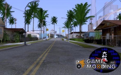Спидометр с изображением иероглифов for GTA San Andreas