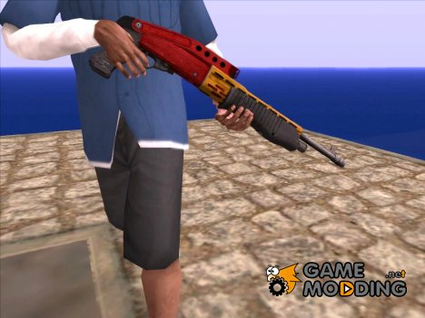 Christmas Shotgun SPAS (2016) для GTA San Andreas