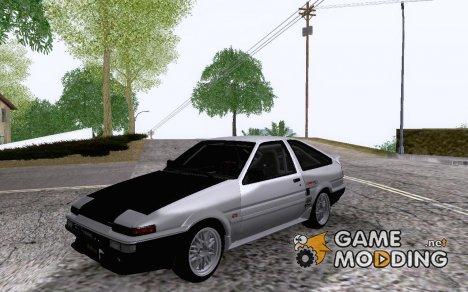 TRD Keiichi Tsuchiya Toyota Sprinter Trueno AE86 GTV для GTA San Andreas
