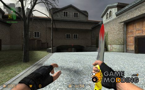 Golden Bloody Dirty Net Knife для Counter-Strike Source