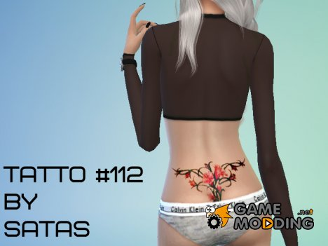 Tattoo 112  - Get to Work needed for Sims 4