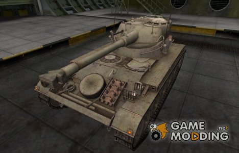 Пустынный французкий скин для AMX 13 75 for World of Tanks