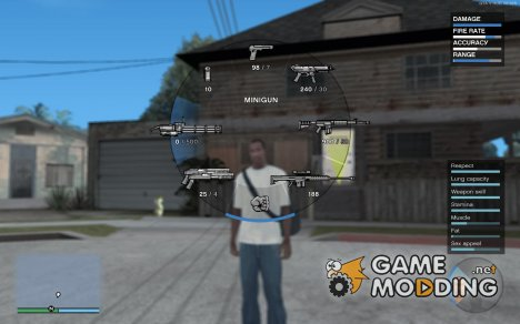 "GTA V HUD v0.925 - ""Next-Gen Edition"" для GTA San Andreas"