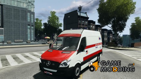 Mercedes Benz Sprinter American Medical Response для GTA 4