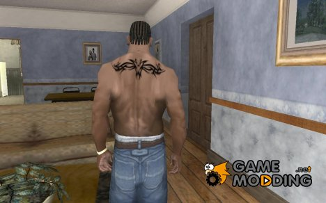 Simple back tribal Tattoo for GTA San Andreas