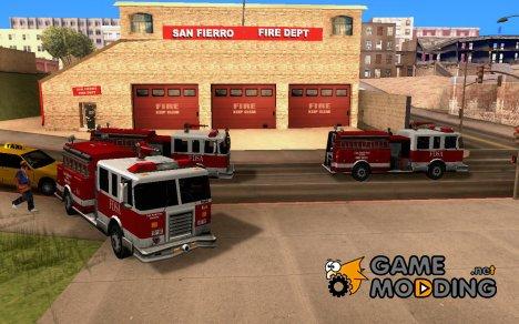 Оживлённая пожарная часть в Сан Фиерро  V1.0 для GTA San Andreas