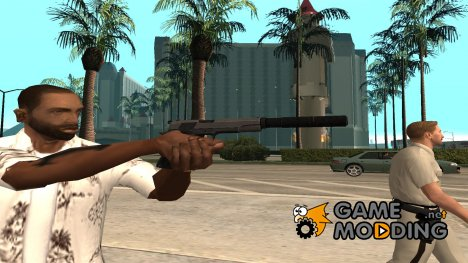 Original silenced pistol in hd for GTA San Andreas