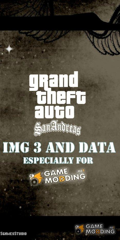 GTA 3 IMG and DATA для GTA San Andreas