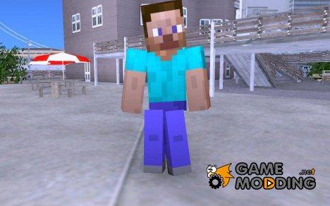 Скин Стива из игры Minecraft for GTA San Andreas