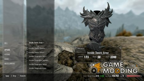 Invisible Armor Crafted для TES V Skyrim