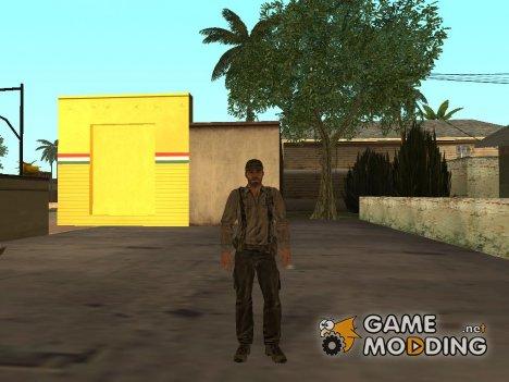 Охотник в тропической экипировке для GTA San Andreas