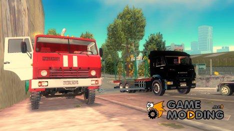 Пак машин КамАЗ для GTA 3