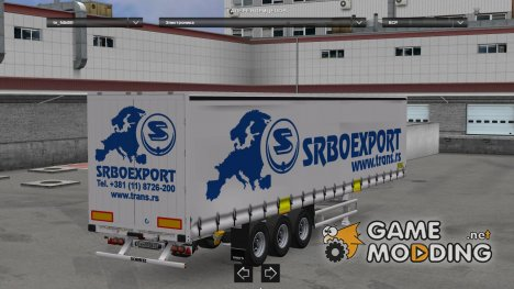 Trailer Schmitz Hupa Curtain v1.22 for Euro Truck Simulator 2