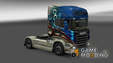 "Скин ""Konzack"" Scania R for Euro Truck Simulator 2"
