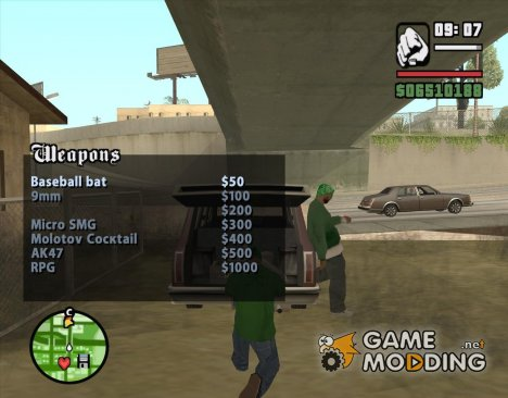 Продавец оружия на Гроув Стрит v2 для GTA San Andreas