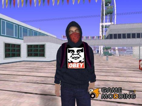 Парень в толстовке OBEY для GTA San Andreas