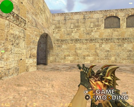 M4A1 Тёмный рыцарь для Counter-Strike 1.6