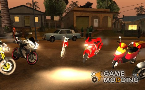 Motocycles Pack 2015 от Gena170701 для GTA San Andreas