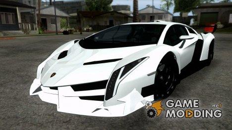 Lamborghini Veneno White-Black 2014 for GTA San Andreas