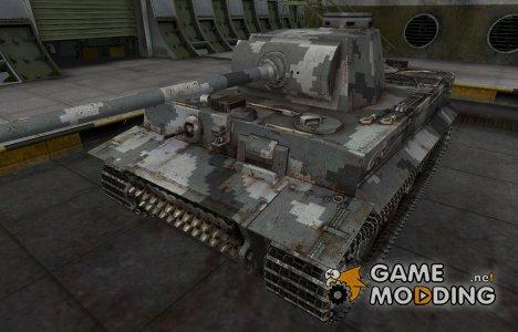 Камуфлированный скин для PzKpfw VI Tiger for World of Tanks