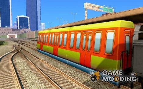 Пассажирский поезд 1 из Subway Surfers для GTA San Andreas