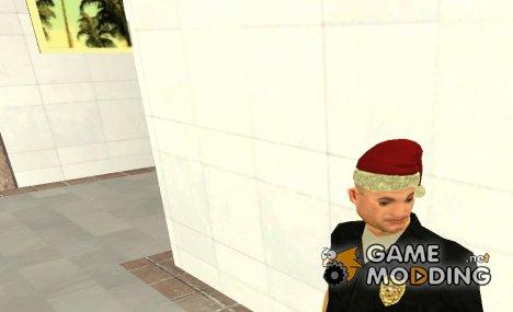 Новогодняя шапка для Pulaski для GTA San Andreas