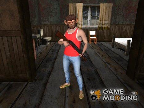 Skin GTA V Online HD в маске Тревора for GTA San Andreas