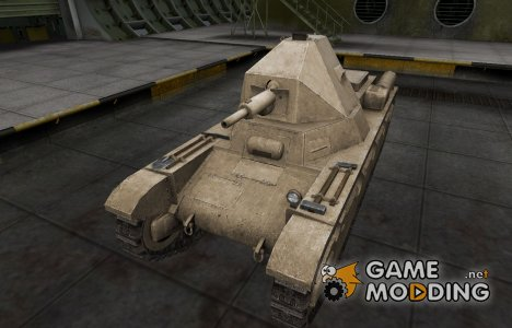 Пустынный французкий скин для AMX 38 для World of Tanks