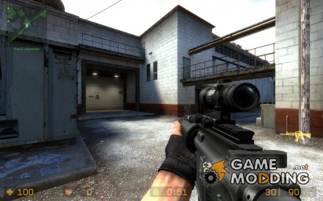 Tactical M4A1 [Silent's Anims] для Counter-Strike Source