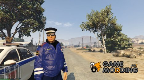 Russian Traffic Officer - Blue Jacket для GTA 5