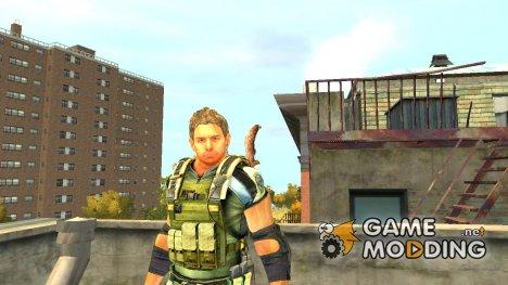 Крис Редфилд v.2 для GTA 4