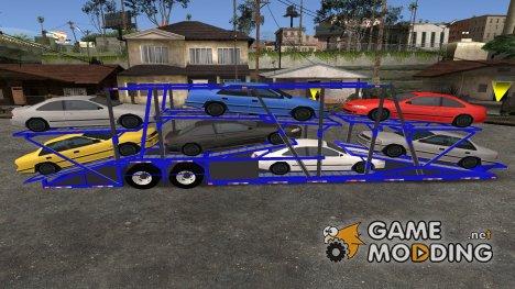 Прицеп для Peterbilt 379 Packer Tractor для GTA San Andreas